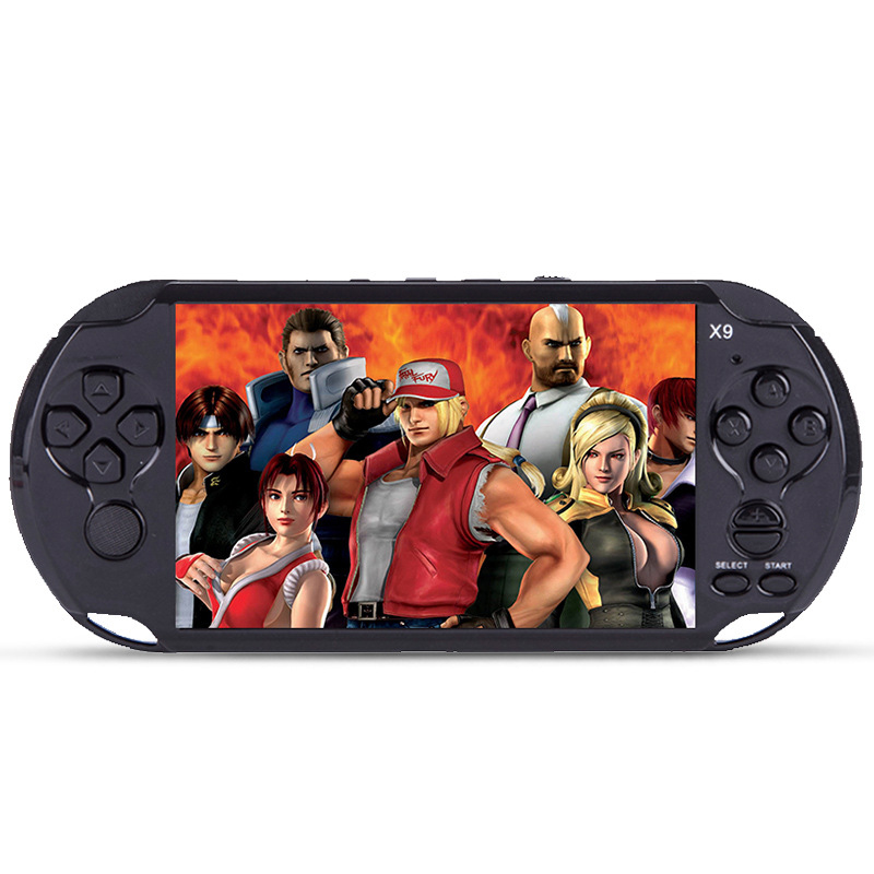 5.1 inch Screen 8GB X9 Handheld Video Game Console Player Support TV Out for GBA GBS arcade games With MP3 Movie Camera