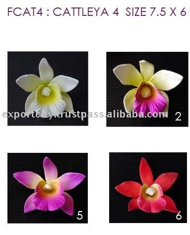 Cettleya artificial Orchid Hawaiian flower, Foam Flowers