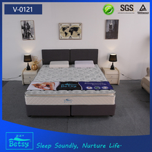 Bedroom furnitures pillow top mattress bonnell spring and foam layer