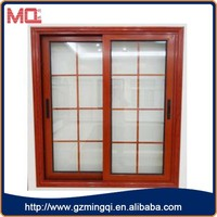 Double glass aluminum window,sliding window grill design for house