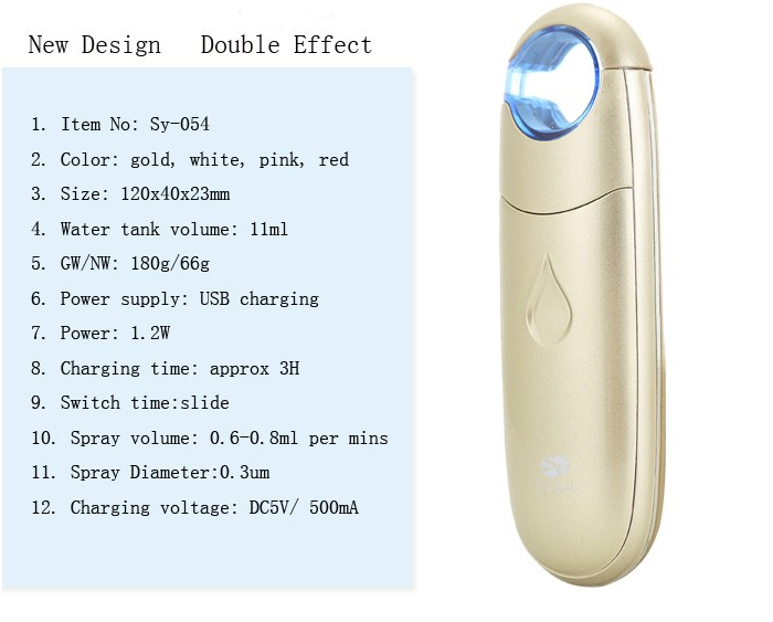 Popular face moisturizing handy hydrating machine electric nano facial steamer with negative ion technology