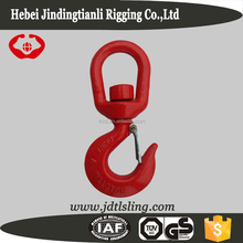 Chain lifting swivel safety hooks with latch