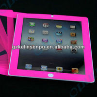 red colored printing screen protectors for i PAD 2/3/4, border colored printing screen guard