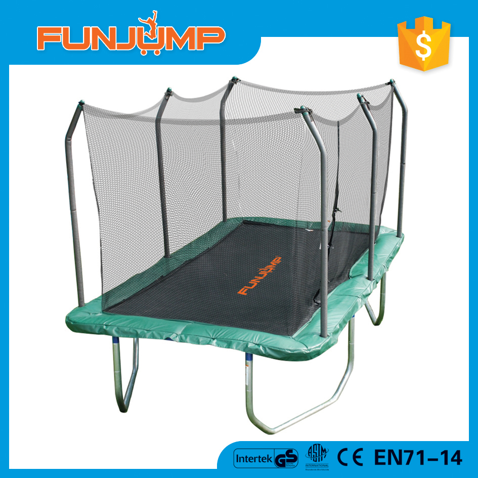 FUNJUMP top sale pink rectangular trampoline with safety nets