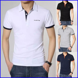 High quality short sleeve 100% cotton rib cuff custom polo shirt design wholesale