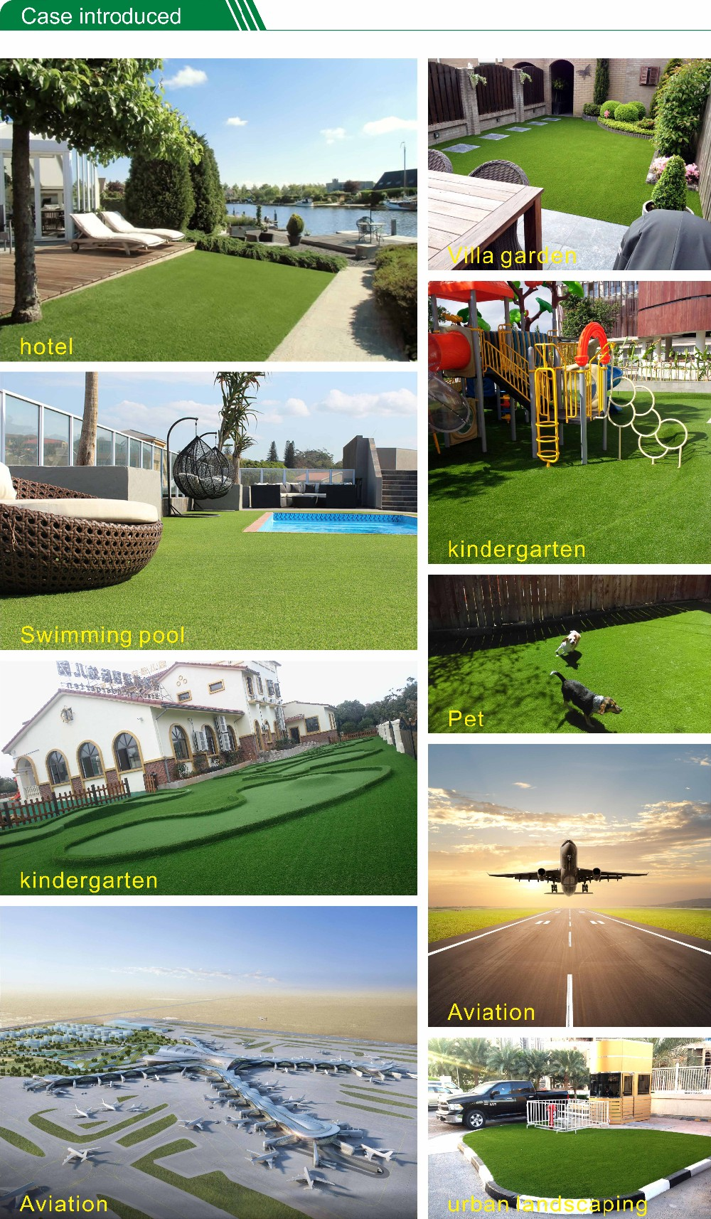 Commercial High Density Artificial Grass Synthetic Grass For Childcare Artificial Turf