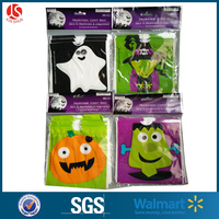 Halloween Band Plastic Treat Drawstring Bags