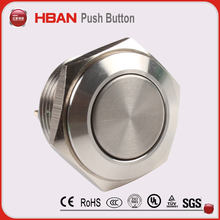 HBAN CE TUV IP65 arcade game machine push button waterproof metal switch