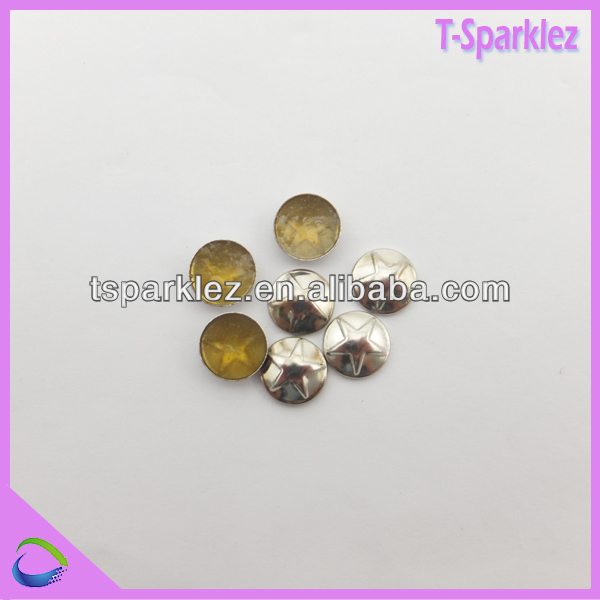 SPECIAL SHAPE hot fix COPPER STUDS for decoration medal look