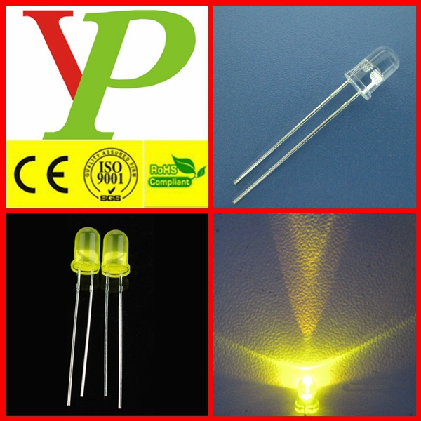 clear lens Round Yellow 5MM LED