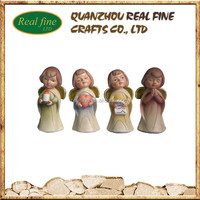 Polyresin Famous Small, Indoor Angel Statues for Christmas Decoration