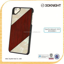For Apple iphone 6s seashell wood case, Colorful Hard for iphone 6 6s wooden bamboo case wholesale