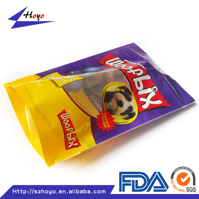 Personalized stand up printed plastic packaging dog treat bag/ Personalized stand up plastic dog treat bag/