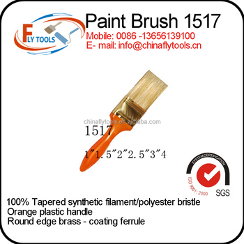 China Synthetic Fibers Plastic Handle Paint Brush