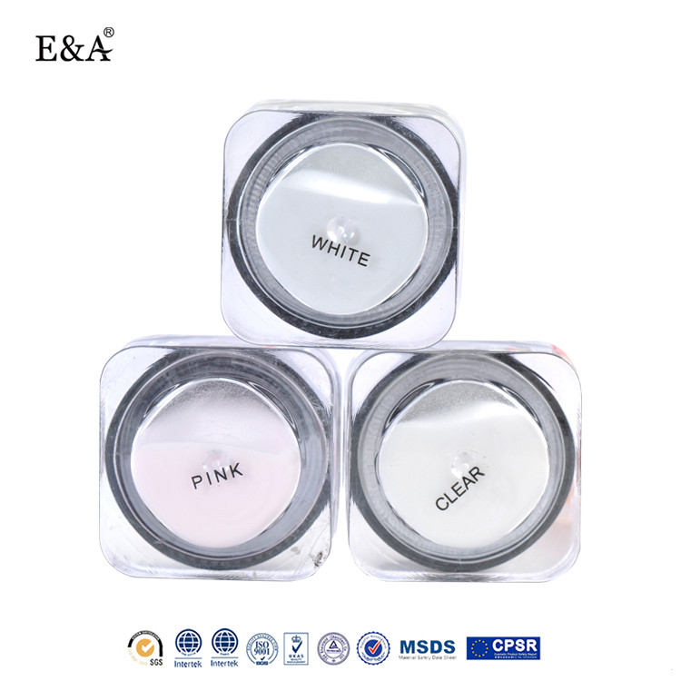 EA acrylic powder oem transparent white pink color gel nails for acrylic nail art