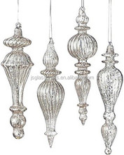 Antiqued Mercury Style Glass Drop Christmas Tree Ornaments,Glass drop ornaments