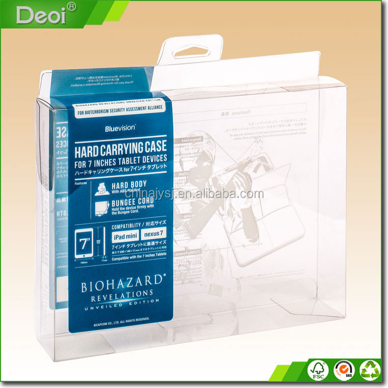 PVC/ PET/ PP Transparent Plastic Packaging Box