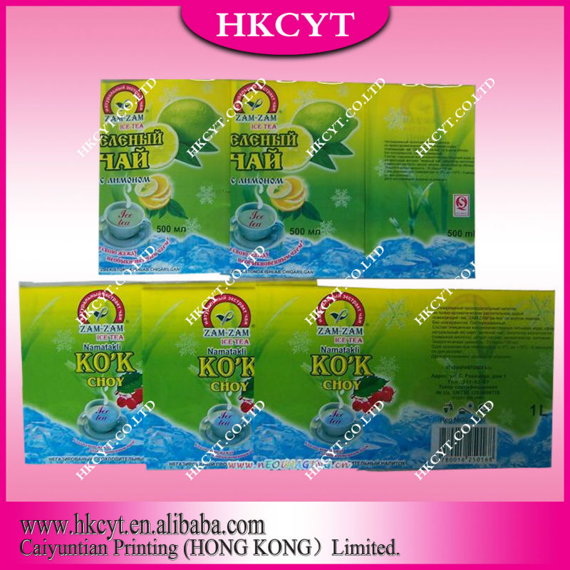 Various type drink packaging film for beverage/milk/ice tea/water