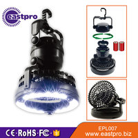 Cost Effective Camping Gear Equipment Flashlight and Fan for Outdoor cheap camping lamp