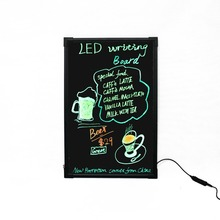 LED outdoor advertising board illuminate led writing board message for shop/restaurant