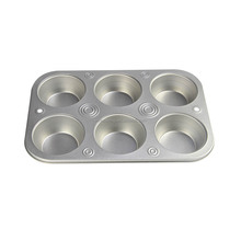 6 Cup cake mould Muffin pan, non stick cake baking muffin tins baking tray bakeware