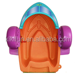 Exciting swan kids hand paddle boat / inflatable swimming pool one person paddle wheel boat for sale / float paddle boat