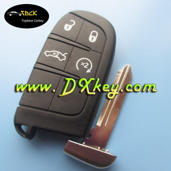 Good price DODGE 4+1 button remote car key remote control 434mhz for Chrysler smart key