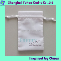 Cotton drawstring jewelry pouch