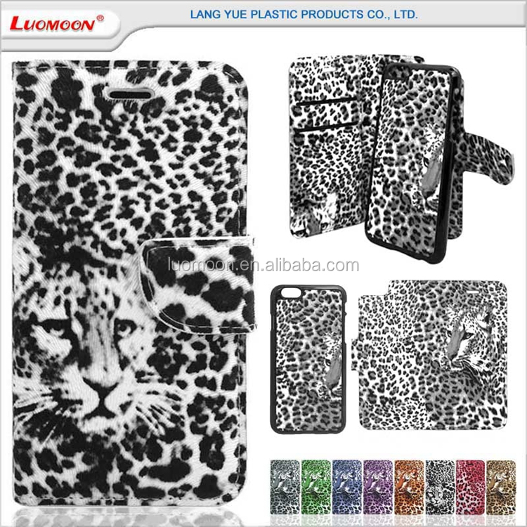 card slot 2 in 1 leopard leather flip phone case for samsung galaxy e7 s7 s5230 s5360 s5560 s5570