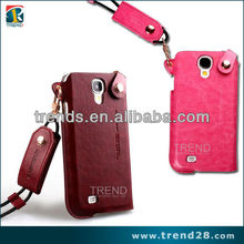 mobile phone accessories factory in china leather flip case for samsung galaxy s4