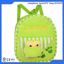 Green Colour Animal Sweeties Fashion Bag Kids 3D Child School Bag for Preschool Baby