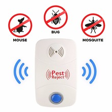 Patent Products LED Light Mosquito Killer Ultrasonic Pest Repeller Reject Rat Mouse Repellent