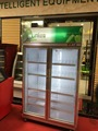 LVNI 800L supermarket open freezer,glass door refrigerator