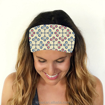 Print pattern running hairband custom sport headband