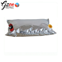 customized top quality drink aluminum foil dispenser wine bag in box
