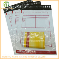 DHL co-extruded poly mailer bags, hot melt mailing bags with back pocket
