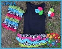 Cute Cotton Summer Dress For Girls Zebra Petti Baby Clothes With Ruffle Baby Dress Cutting