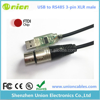 USB to RS485 3-pin XLR Female