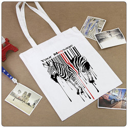 Custom printed canvas shopping bag with high quality women cheap designers tote bag