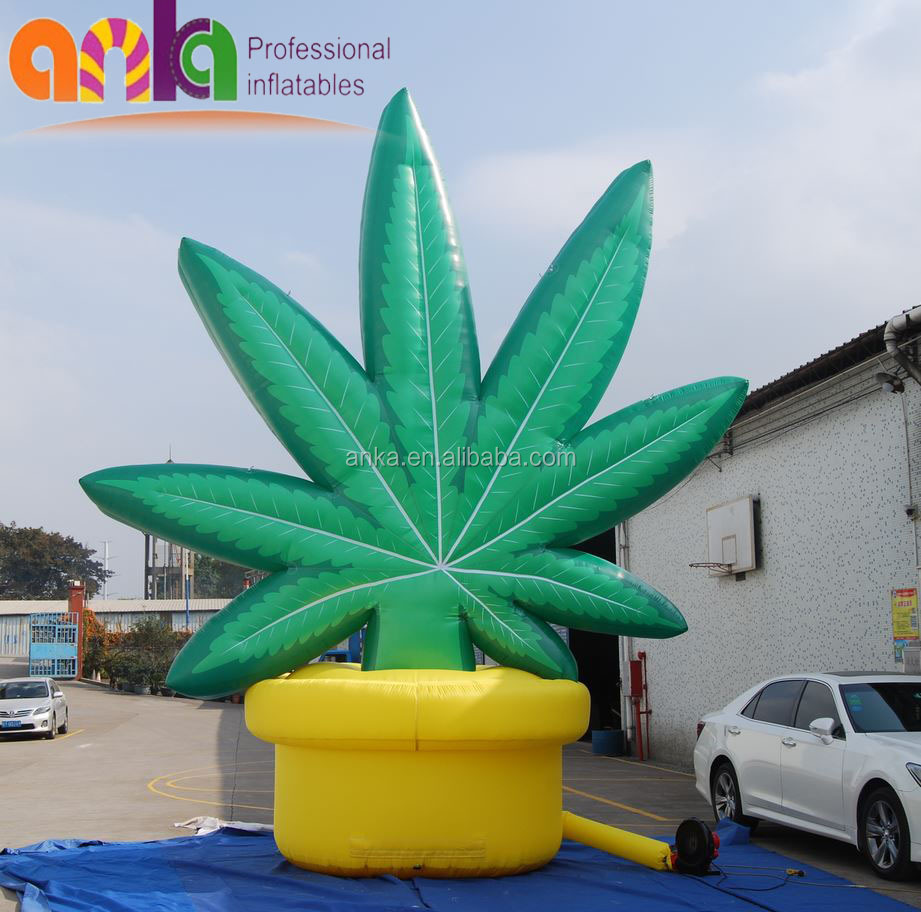 Factory direct custom large inflatable maple leaf replica for advertising