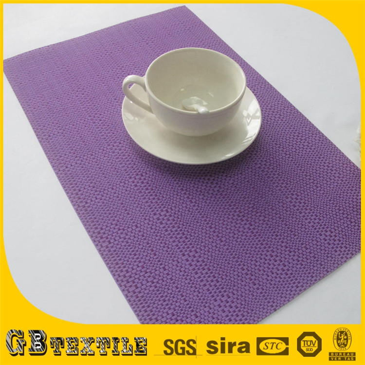 New products tapestry hard round purple placemats