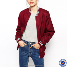 China wholesale factory trade assurance products zip through varsity womens bomber jacket