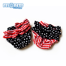 FX0075C Fancy design dog sanitary panties with bowknot for teddy