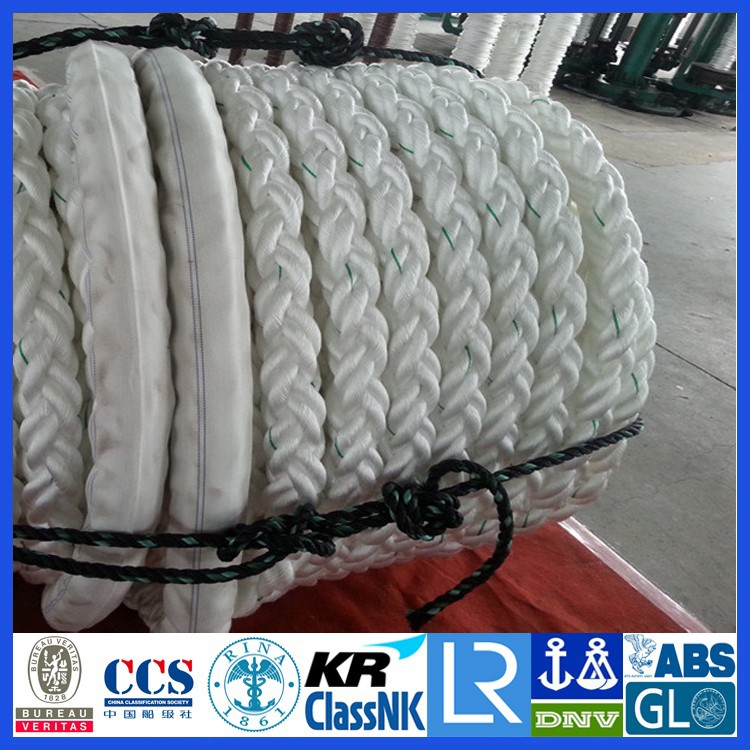 Dia.120mm(15 inch) PE/PP/NYLON/UHMWPE 12-strand core braided mooring Rope