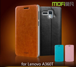 MOFi Case Cover for Lenovo A360, Leather Flip Phone Cover for Lenovo A360 Case