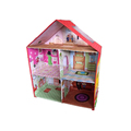 Pink color girls play doll house new design