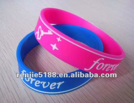 customed silicone bracelet for inspirational promo gift