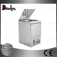 Brandon portable table top commercial electric salad bar refrigerator