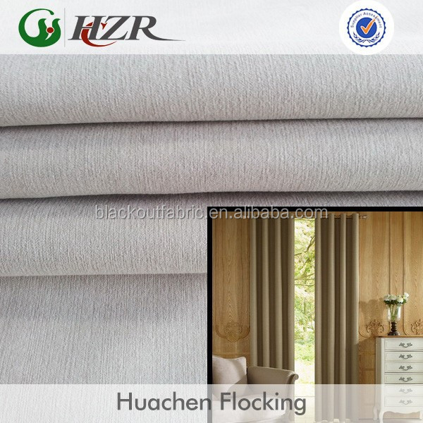 most popular heatproof upholstery blackout curtain flocked fabric