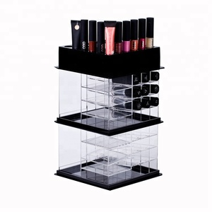 Wholesale Custom Acrylic Wood Metal Lipstick Retail Counter Display Stand Holder Rack Cabinet with Mirror